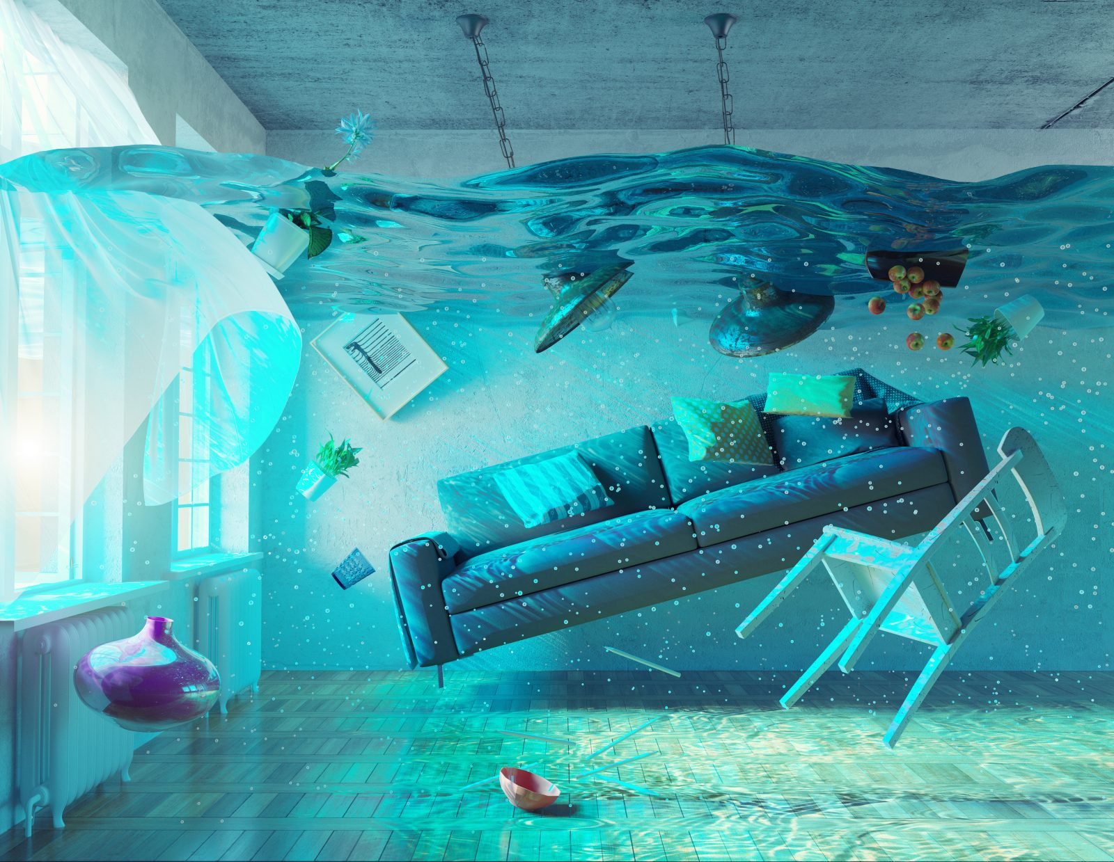 underwater  flooding interior